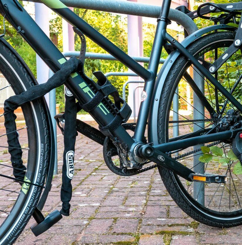 verschlossenes Fahrradschloss